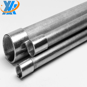 EMT galvanized steel conduit pipe electrical with conduit parts