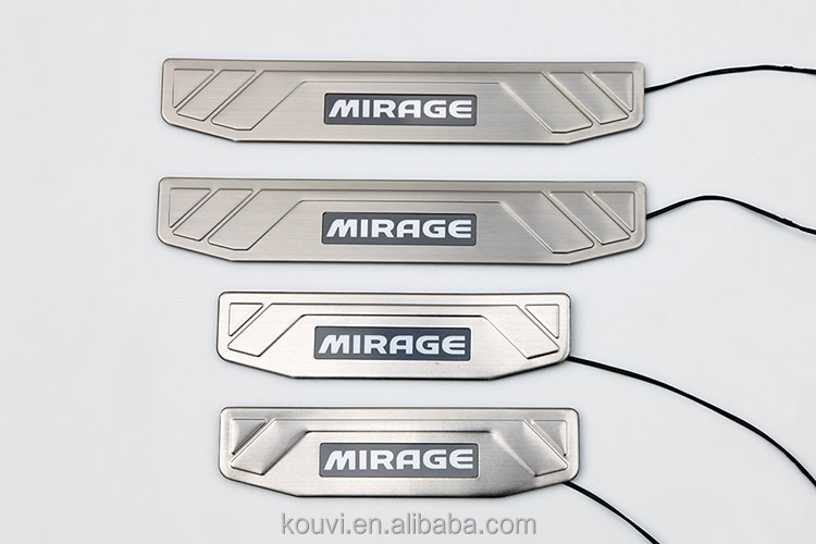 Popular LED stainless steel door sill plate for Mirage