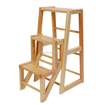 Groovy New Arrival Useful Multifunctional 3 Step Wooden Ladder Chair For Families Folding Bamboo Step Ladder Chair Buy Ladders Chair High Chair Baby Machost Co Dining Chair Design Ideas Machostcouk