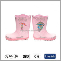 new cute slight umbrella red rain boots for kids