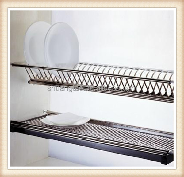 Kitchen Cabinet Stainless Steel Dish Rack Of Guangzhou Factory