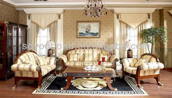 Luxury Spain Royal Design Solid Wood Classic Sofa