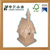 Customizable wildlife handmade wooden bird house ready to decoration
