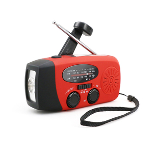 Hand crank am fm pocket radio with flashlight and charger rechargeable torch