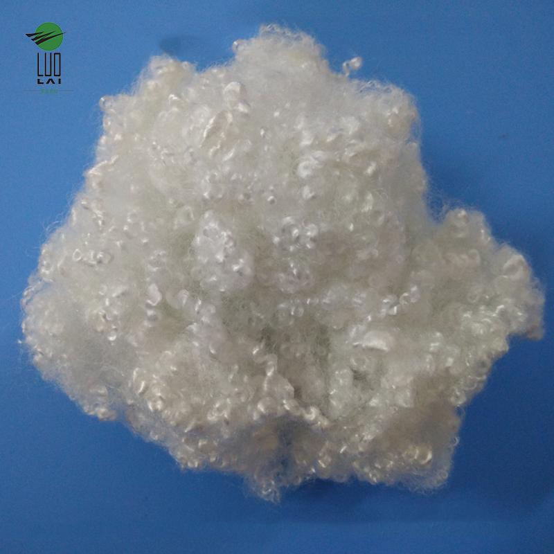 white recycled polyester staple fiber for pillows HCS