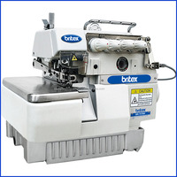 747BK Industrial 4 Thread Back Latching Overlock Used Sewing Machine Tables Full Shuttle Sewing Machine