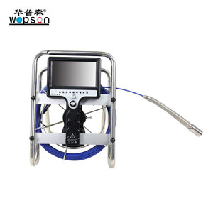 drain pipeline inspection slef level camera system with DVR recording