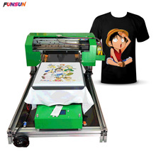 Direct Naar Kledingstuk Printer A3 Size Dtg Printer Digitale Stof T-shirt Drukmachine