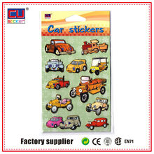 Custom car gold stamp pvc sticker for scrapbooking