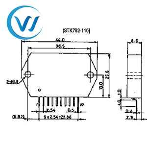 Vertical Deflection Output Circuit for CTV and CRT Displays new and  original ic chip component STK792-110