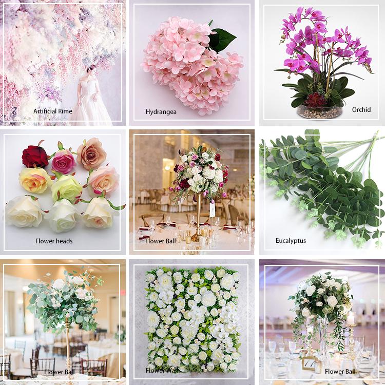 Sehr hohe Qualität Blumenkopf Dekoration Künstliche Hortensie weiß Blume