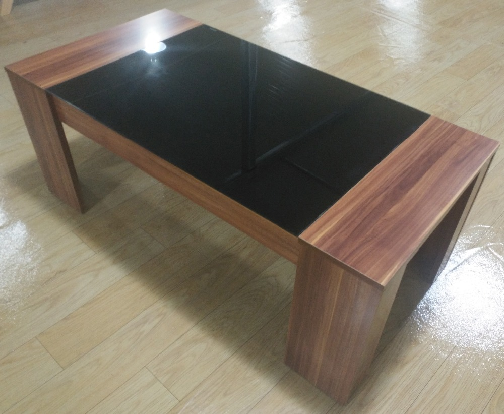 Cheap Living Room Center Table Design Wooden Tea Table With Glass Top Wholesale Buy Glass Top Wooden Tea Table Modern Design Glass Center Table Wood Center Table For Living Room Product On Alibaba Com