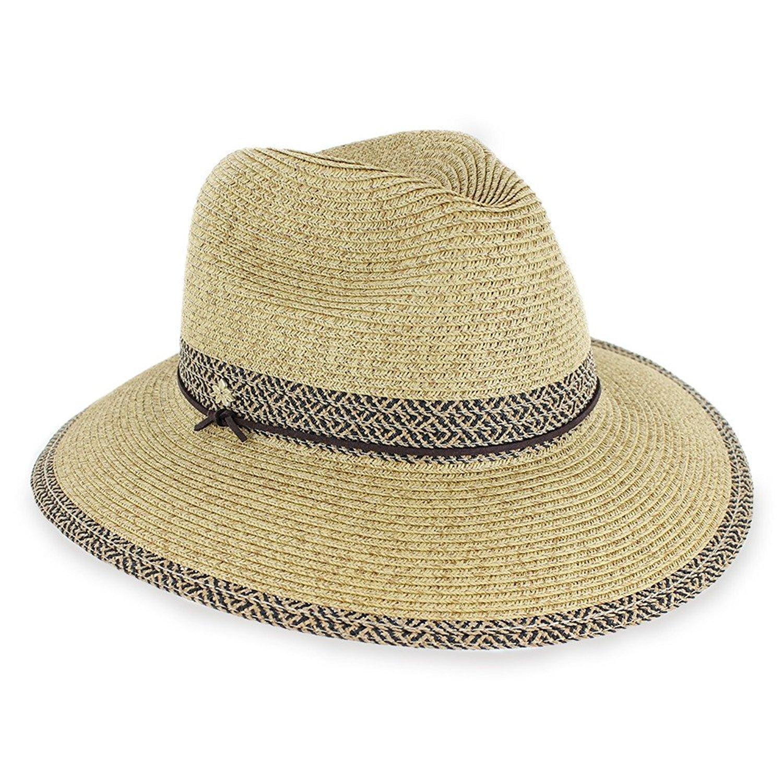 Get Quotations · Hats in the Belfry Belfry Malibu Women s Crushable  Adjustable Floppy Beach Packable Travel Fedora Hat in 918575fea236