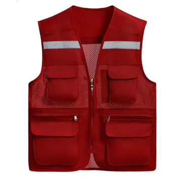 Colorful Breathable Safety Workwear Jacket Outdoor Fishing Vest with Pockets