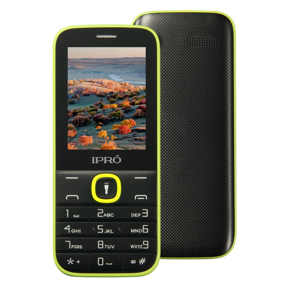High Quality Logo Printing IPRO I324F 2.4 inch feature phones 2g phone service providers 1000 mAh Torch for Lationamerica