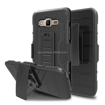 Combo 3 in 1 kickstand case skin cover for Galaxy J2 Prime