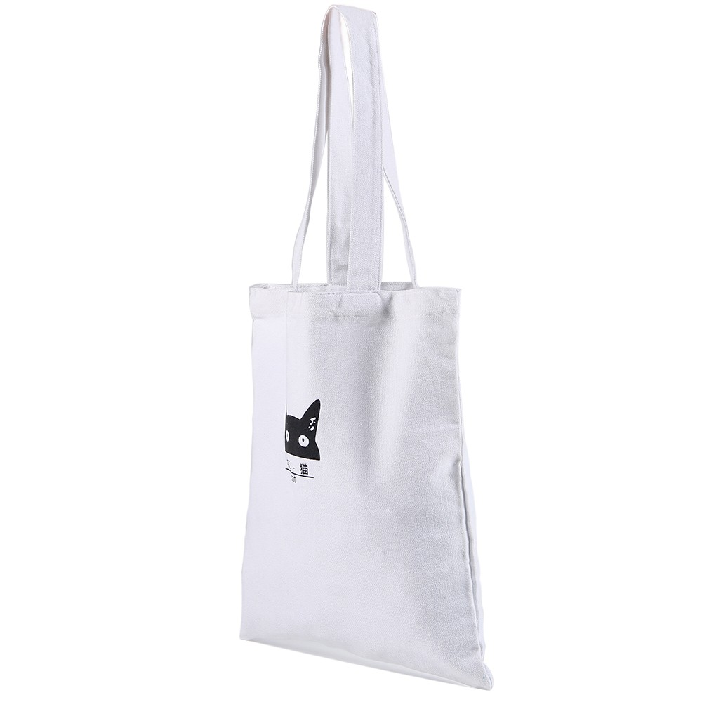 2018 Yiwu Manufacture Wholesale Custom Fashion Plain Fabric Tote Bag Canvas Cotton Printing Women Shopping Tote Bag with Logo