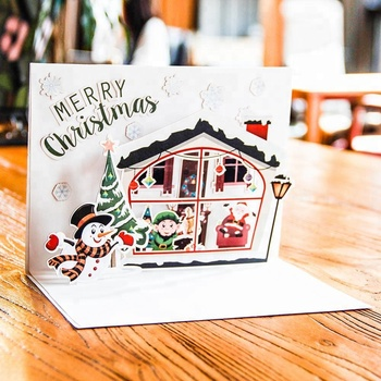 hot sale bulk Christmas House DIY Card for Christmas Day