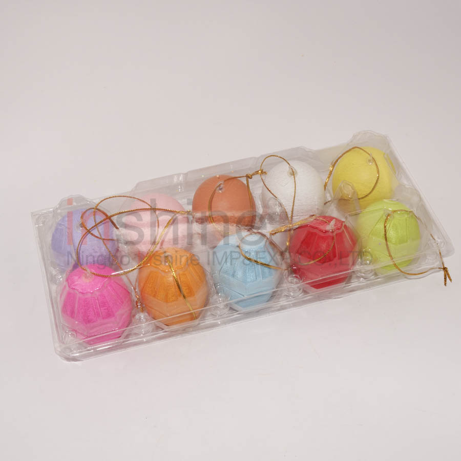 IN53236 10 Pcs Colorful Plastic easter Eggs , Promotion Plastic Easter Eggs