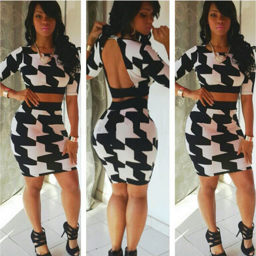 Women Two Piece Outfits Summer 2015 Sexy Vestido Party