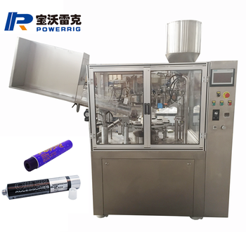 Full automatic hair oil  aluminum tube skin oinment filling and sealing machine toothpaste tube filler machine