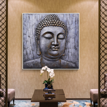 Modern Buddha Wall Pictures hand painted garden scenery oil painting