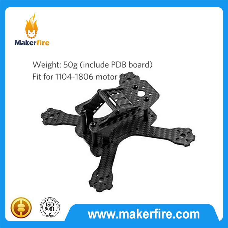 130mm carbon fiber frame fpv with PDB Board for FPV Racing Quad