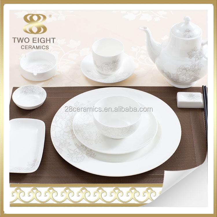 eco friendly en c ramique ensemble de vaisselle de luxe porcelaine arts de la table vietnam. Black Bedroom Furniture Sets. Home Design Ideas