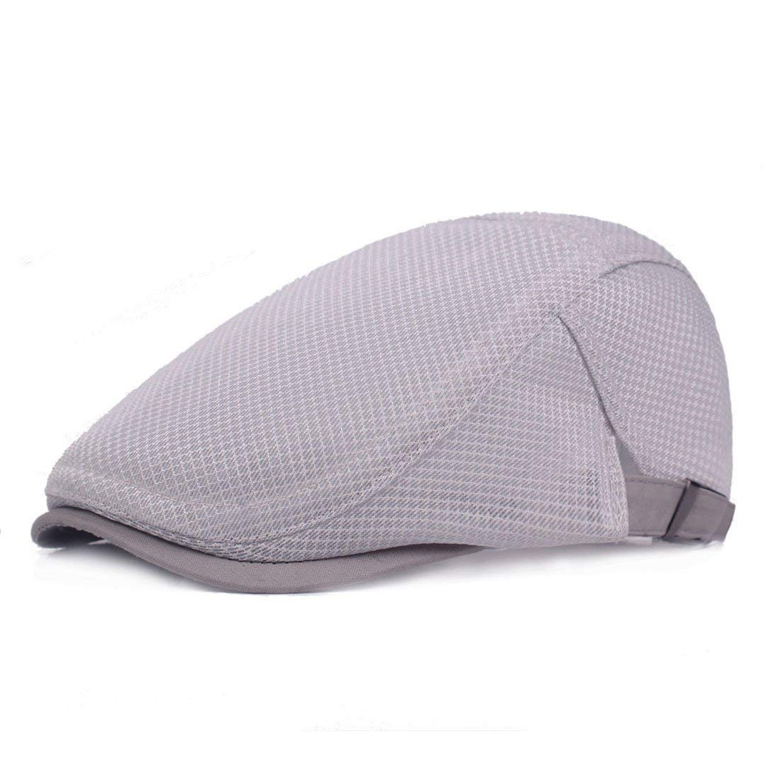 37b748f8c9c Get Quotations · Topcoco Mens Breathable mesh Cap Beret Summer Cool Ivy Cap  Cabbie Flat Cap