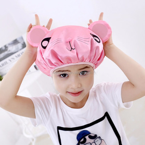 factory animal design shower cap bath cap for kids