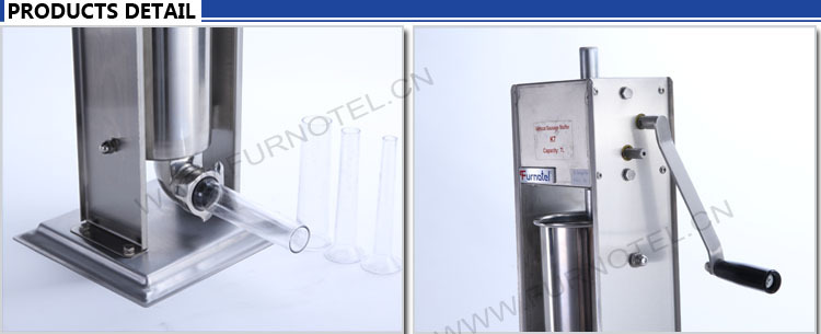 Food Processing Machinery 5L Stainless Steel Vertical Manual Sausage Filler Machine Stock for Sale