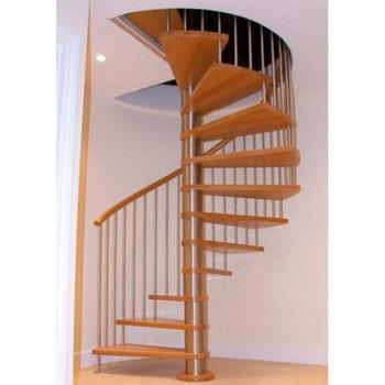 Interior De Madera De Diseño Moderno Espiral Escalera Para La ...