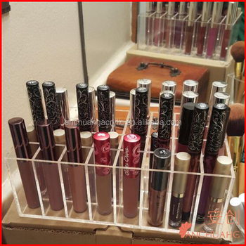 062dfb24614a Clear Acrylic 32 Stand Transparent Cosmetic Makeup Organizer For Nail  Polish,Lipstick,Brushes,Bottles - Buy 32 Stands Cosmetic Display,Lip Gloss  ...