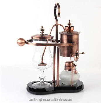 Gold color balancing siphon royal belgium thermal coffee maker