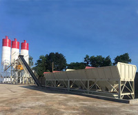 Best Selling High Quality HZS60 Mobile Concrete Batching Mixing Plants