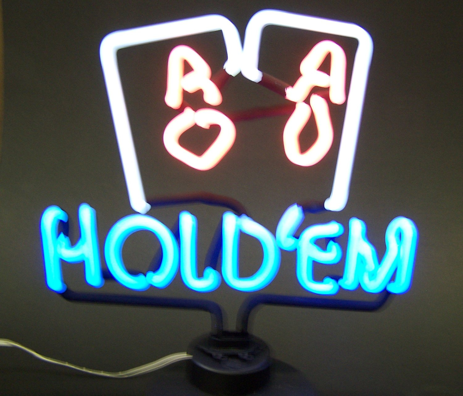 Neonetics Bar and Game Room Hold Em Pair of Aces Neon Sign Sculpture