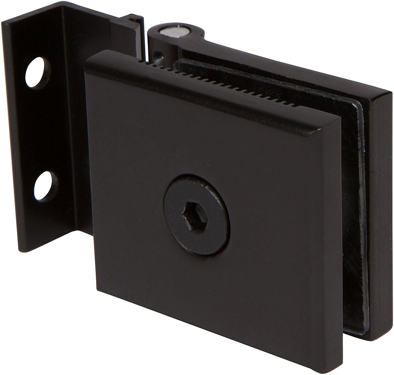 """Mini Hinge for 1/4"""" Glass Shower Doors in Oil Rubbed Bronze Finish, Durable commercial & residential, door hardware, door handles, locks"""