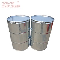 Customized Color Oil Storage 200l Open Top Galvanized Stainless Steel Chemical Drum Barrel