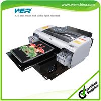 Good quality A2 size WER-D4880T digital printing machine for t-shirt printing