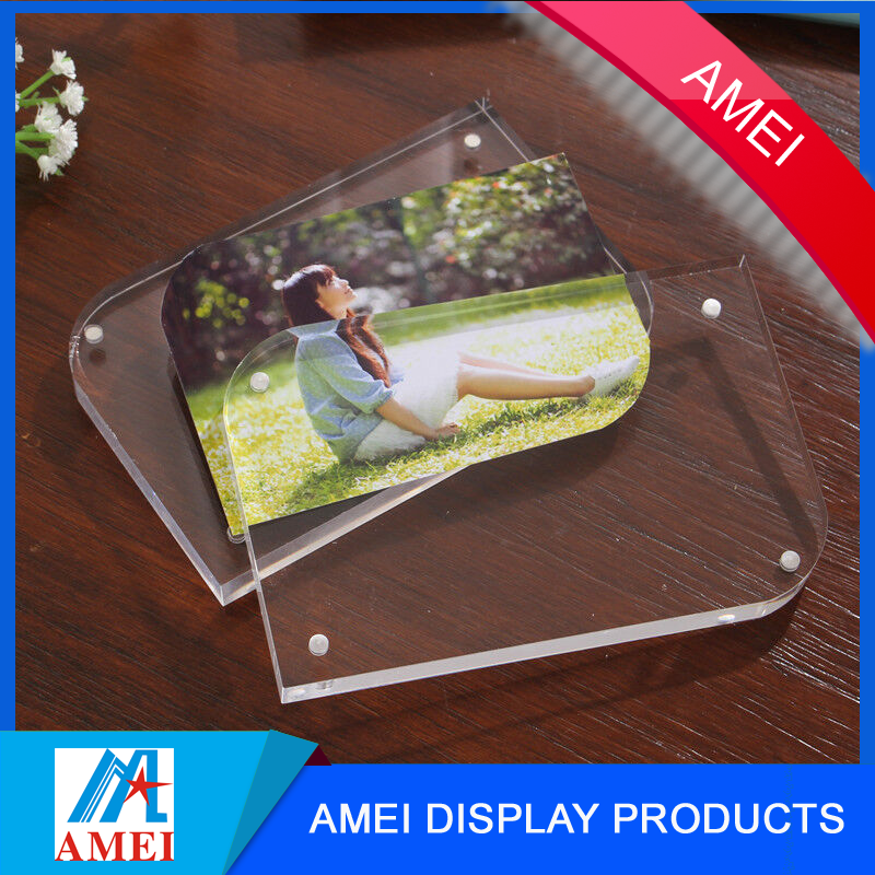 Double Sided Box 4 x 6 Magnetic Picture Frame for Tabletop