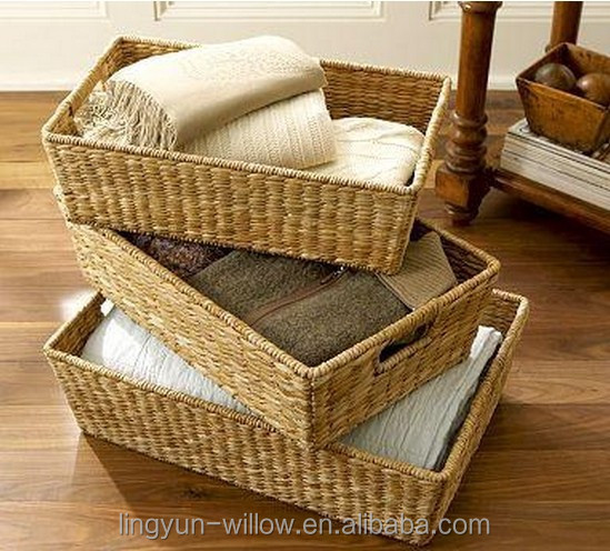 Hot sale mini storage seagrass basket,small wicker gift baskets