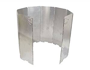 Watson Lee Aluminum folding Windscreen: For Use with Backpacking Stoves, Camping Stoves, Butane Stoves, Alcohol Stoves