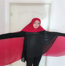 2018 chiffon instant shawl <span class=keywords><strong>hijab</strong></span> verbinden met crossover <span class=keywords><strong>ninja</strong></span> maleisië moslim lange sjaal HW249
