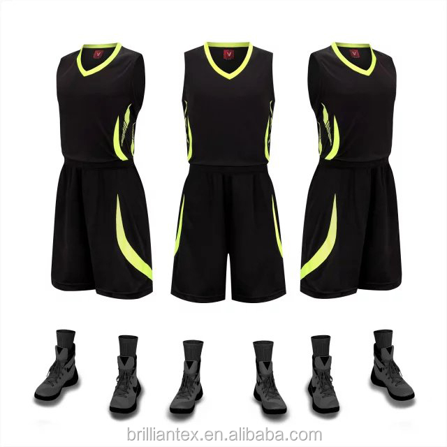 basketball uniform design good quality Basketball jerseys reversible basketball set double layer mesh