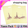YASON most popular polyethylene die-cut shopping bag forshopping bag nonwoven fabriccustom paper shopping bag