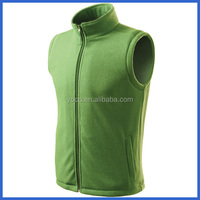 Green fashional outdoor plain fleece vest