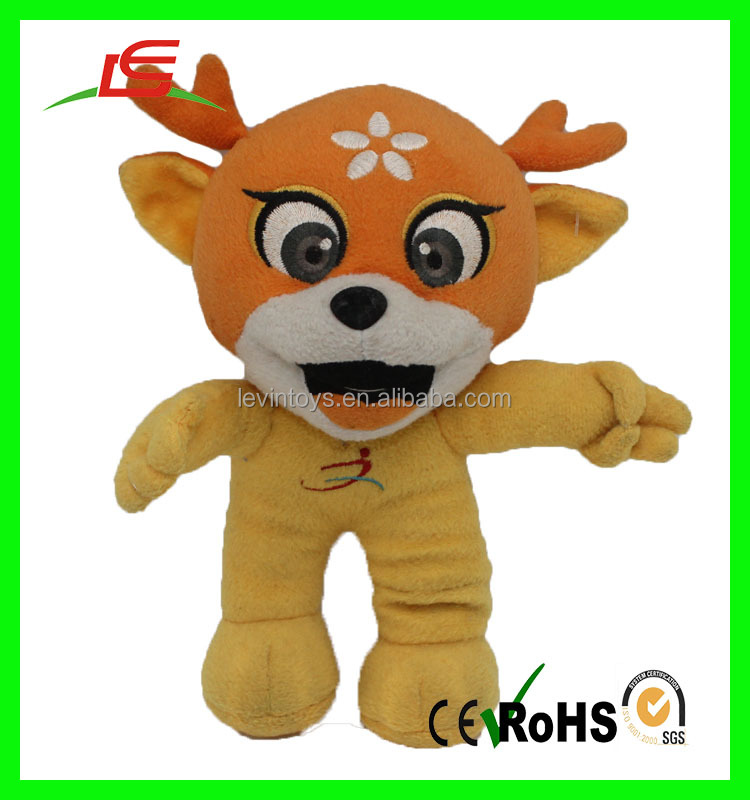 Factory direct selling orange lovely plush dragon stuffed toy