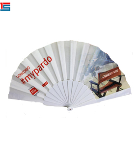 30cm Hand Held Plastic Printed Custom Design Wedding Folding Hand Fan