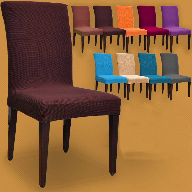 Colorful Dining Chair: Thick Fabric Colorful Spandex Dining Chair Cover Hotel