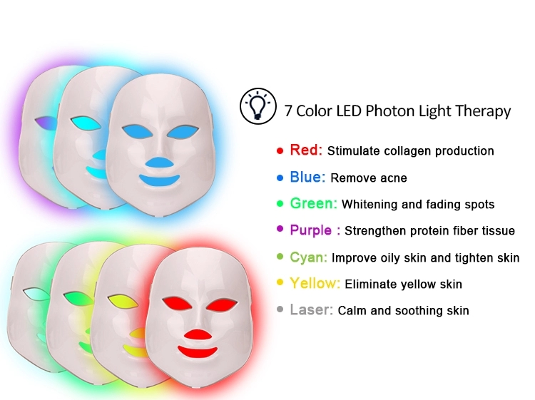 2018 7 farbe photon led hautverjüngung hautpflege